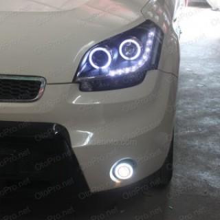 Đèn pha độ LED nguyên bộ, bi (projector) đèn gầm Kia Soul
