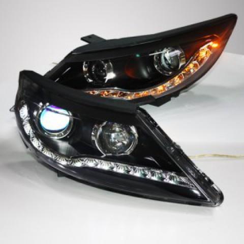 Đèn pha độ LED nguyên bộ cho xe Kia Sportage R mẫu 2