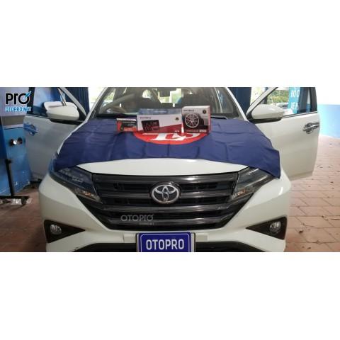 Toyota Rush 2020 lắp màn hình Gotech GT8, áp suất lốp, camera lùi