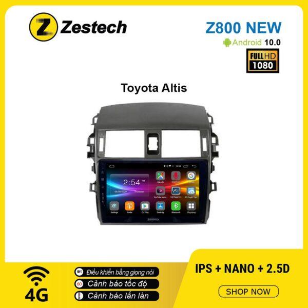 Màn hình ô tô DVD Android Z800 New – Toyota Altis 2003 – 2006
