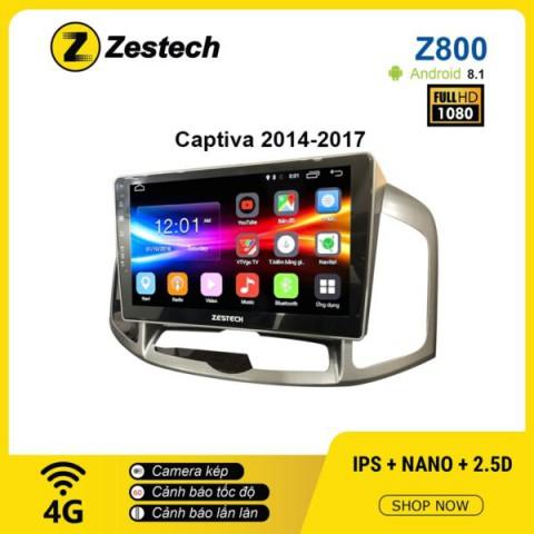 Màn hình ô tô DVD Android Z800 – Chevrolet Captiva 2014 – 2017