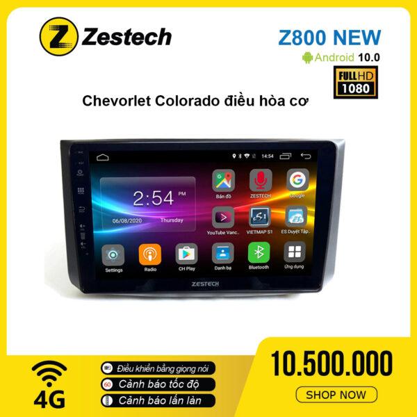 Màn hình ô tô DVD Android Z800 New – Chevrolet Colorado điều hòa cơ