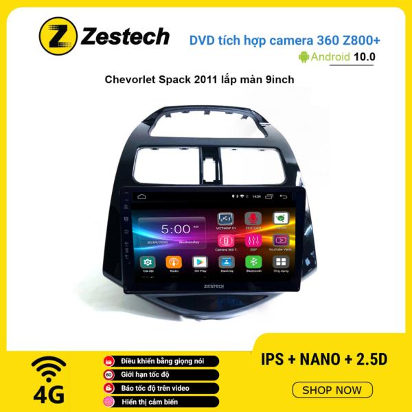 Màn hình DVD Zestech tích hợp Cam 360 Z800+ Chevrolet Spark 2011
