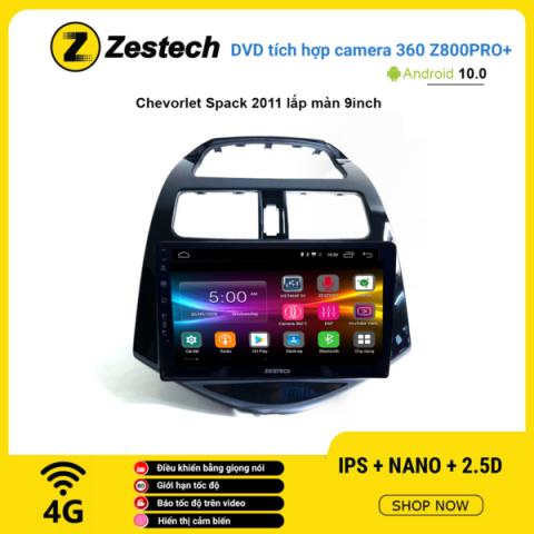 Màn hình DVD Zestech tích hợp Cam 360 Z800 Pro+ Chevrolet Spark 2011