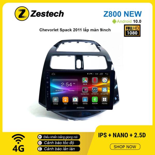 Màn hình ô tô DVD Android Z800 New – Chevrolet Spark 2011