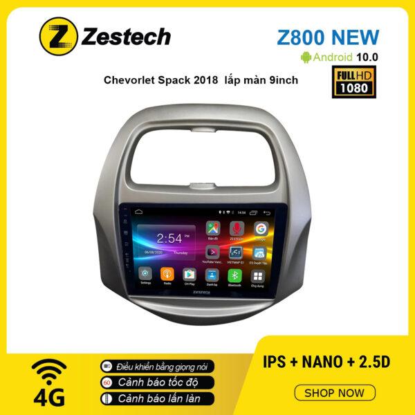 Màn hình ô tô DVD Android Z800 New – Chevrolet Spark 2018