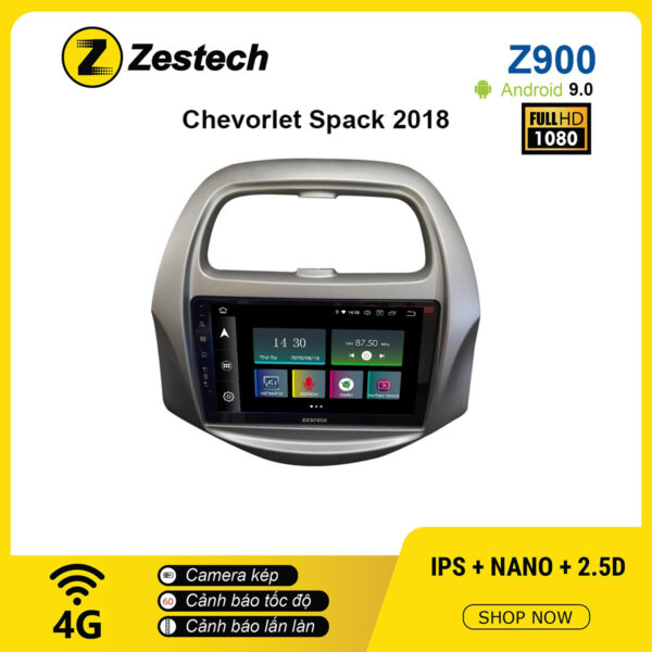 Màn hình ô tô DVD Android Z900 – Chevrolet Spark 2018