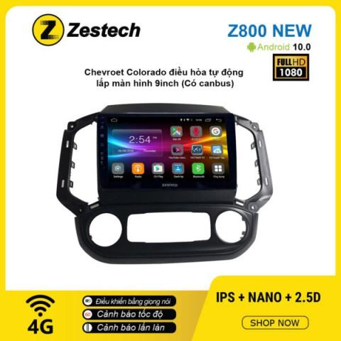 Màn hình ô tô DVD Android Z800 New – Chevrolet Colorado điều hòa tự động