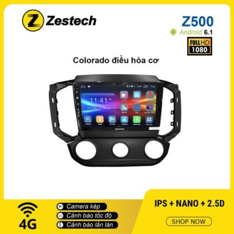 Màn hình Ô tô DVD Android Z500 – Chevrolet Colorado điều hòa cơ