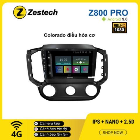 Màn hình ô tô DVD Z800 Pro – Chevrolet Colorado điều hòa cơ