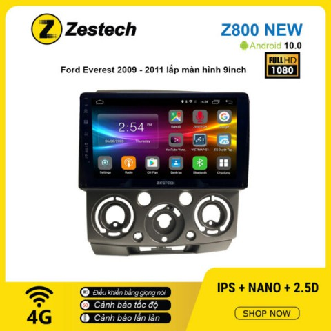 Màn hình ô tô DVD Android Z800 New – Ford Everest 2009 – 2011
