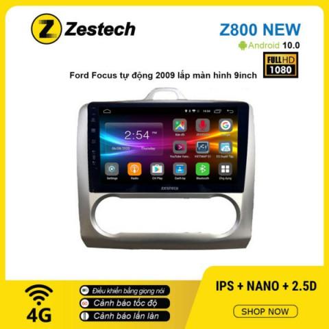 Màn hình ô tô DVD Android Z800 New – Ford Focus tự động 2009