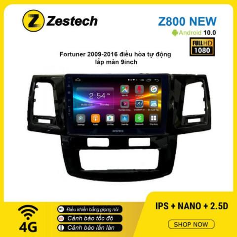 Màn hình ô tô DVD Android Z800 New – Toyota Fortuner 2009 – 2016 điều hòa tự động