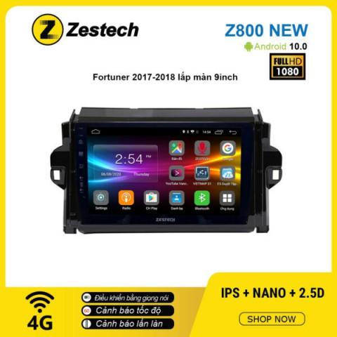 Màn hình ô tô DVD Android Z800 New – Toyota Fortuner 2017 – 2018