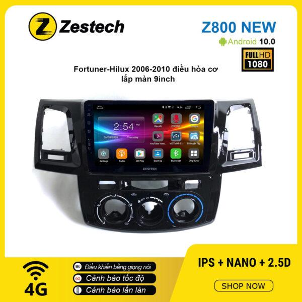Màn hình ô tô DVD Android Z800 New – Toyota Hilux 2006 – 2010 điều hòa cơ