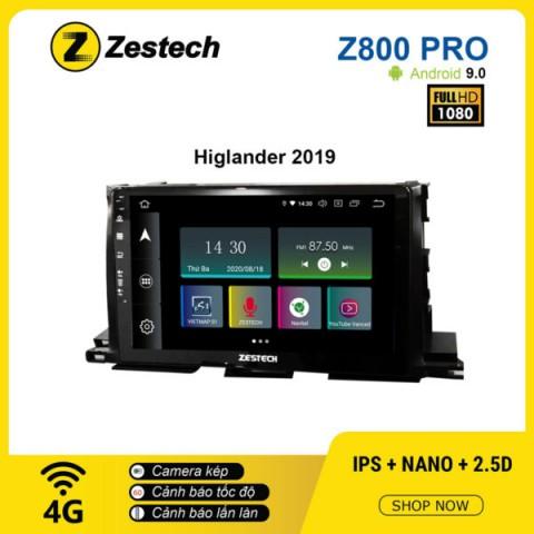 Màn hình ô tô DVD Z800 Pro – Toyota Highlander