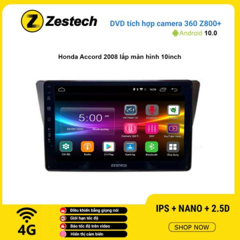 Màn hình DVD Zestech tích hợp Cam 360 Z800+ Honda Accord 2008