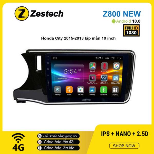 Màn hình ô tô DVD Android Z800 New – Honda City 2015 – 2018