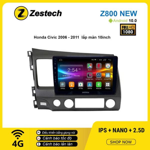 Màn hình ô tô DVD Android Z800 New – Honda Civic 2006 – 2011