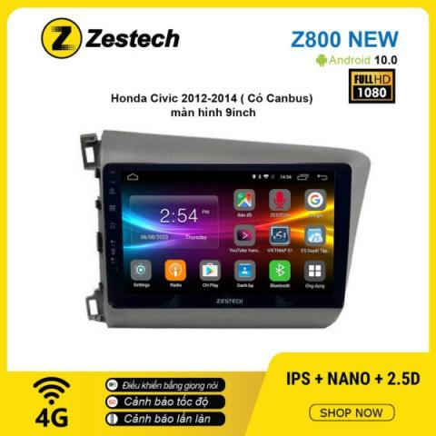 Màn hình ô tô DVD Android Z800 New – Honda Civic 2012 – 2014 có Canbus