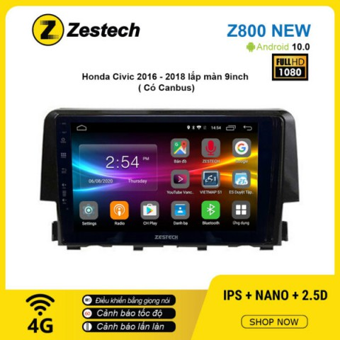 Màn hình ô tô DVD Android Z800 New – Honda Civic 2016 – 2018 có Canbus
