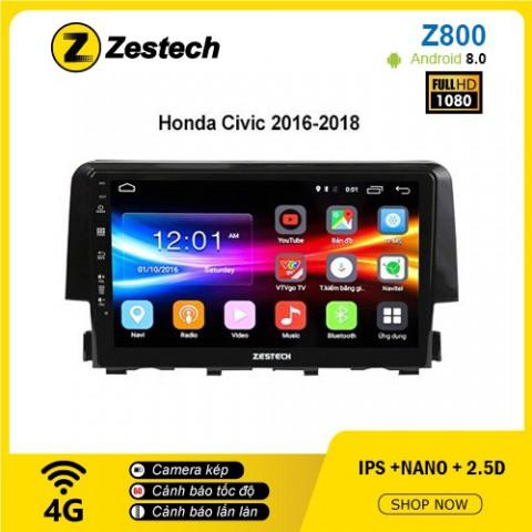 Màn hình ô tô DVD Android Z800 – Honda Civic