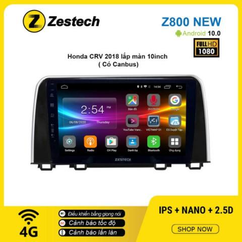 Màn hình ô tô DVD Android Z800 New – Honda CRV 2018 10inch có Canbus