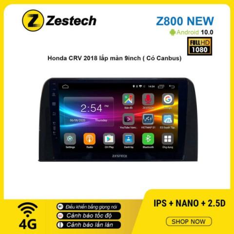 Màn hình ô tô DVD Android Z800 New – Honda CRV 2018 9inch có Canbus