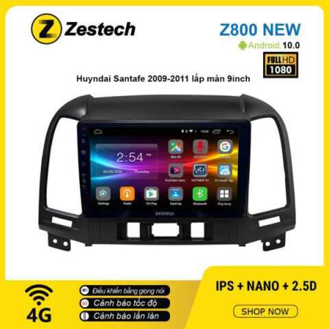 Màn hình ô tô DVD Android Z800 New – Huyndai Santafe 2009 – 2011