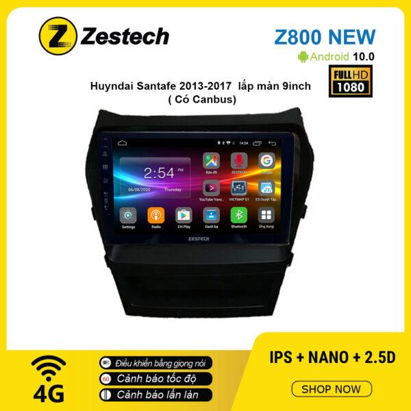 Màn hình ô tô DVD Android Z800 New – Huyndai Santafe 2013 – 2017 có Canbus