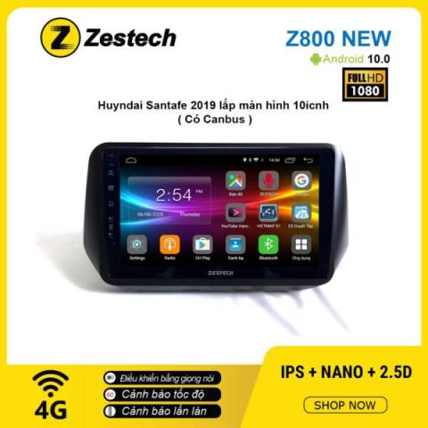 Màn hình ô tô DVD Android Z800 New – Huyndai Santafe 2019 có Canbus