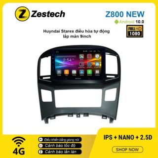 Màn hình ô tô DVD Android Z800 New – Huyndai Starex điều hòa tự động