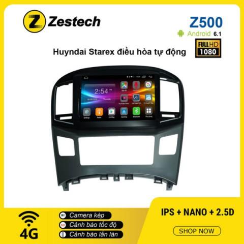 Màn hình ô tô DVD Android Z500 – Hyundai Starex điều hòa tự động