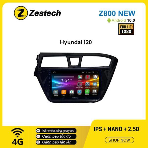 Màn hình ô tô DVD Android Z800 New – Huyndai I20 2010 lắp màn 2din