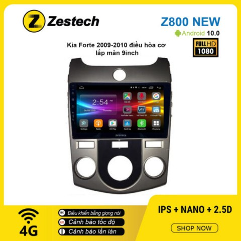 Màn hình ô tô DVD Android Z800 New – KIA Forte 2009 – 2010 điều hòa tự động