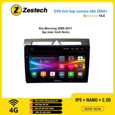 Màn hình DVD Zestech tích hợp Cam 360 Z800+ Kia Morning 2008 – 2011