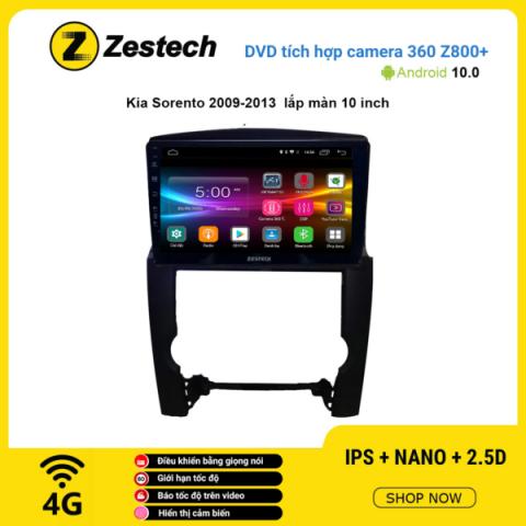Màn hình DVD Zestech tích hợp Cam 360 Z800+ Kia Sorento 2009 – 2013