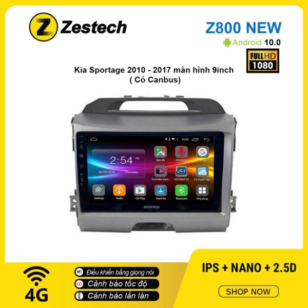 Màn hình ô tô DVD Android Z800 New – KIA Sportage 2010 – 2017 có Canbus