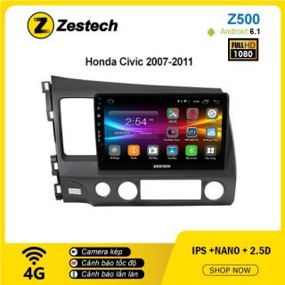 Màn hình ô tô DVD Android Z500 – Honda Civic