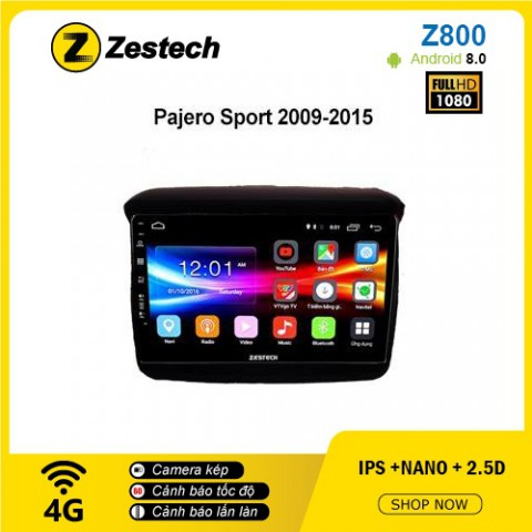 Màn hình ô tô DVD Android Z800 – Mitsubishi Pajero Sport