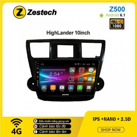 Màn hình ô tô DVD Android Z500 – Toyota HighLander
