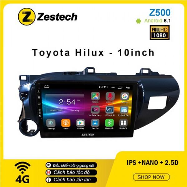 Màn hình ô tô DVD Android Z500 – Toyota Hilux