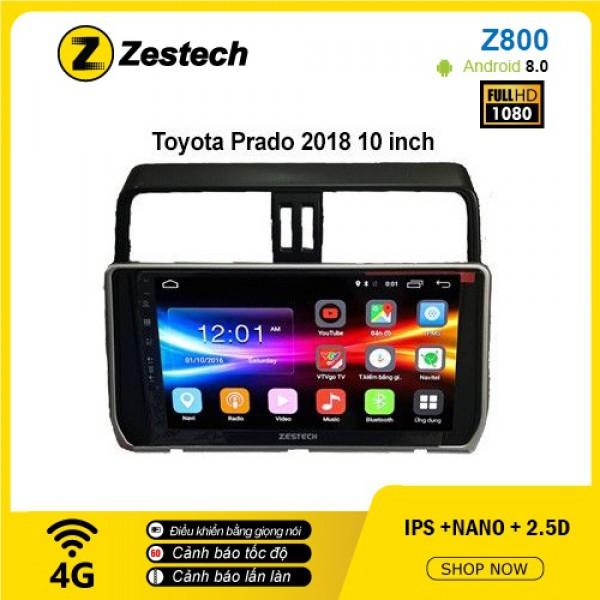 Màn hình ô tô DVD Android Z800 – Toyota Prado
