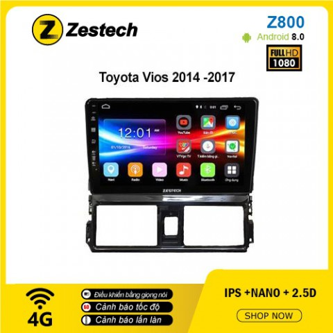Màn hình ô tô DVD Android Z800 – Toyota Vios