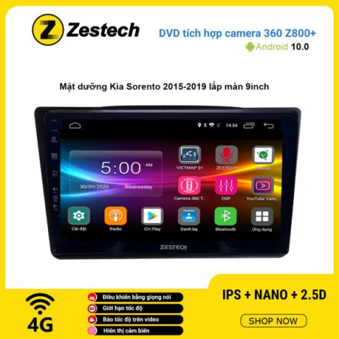 Màn hình DVD Zestech tích hợp Cam 360 Z800+ Kia Sorento 2015 – 2019