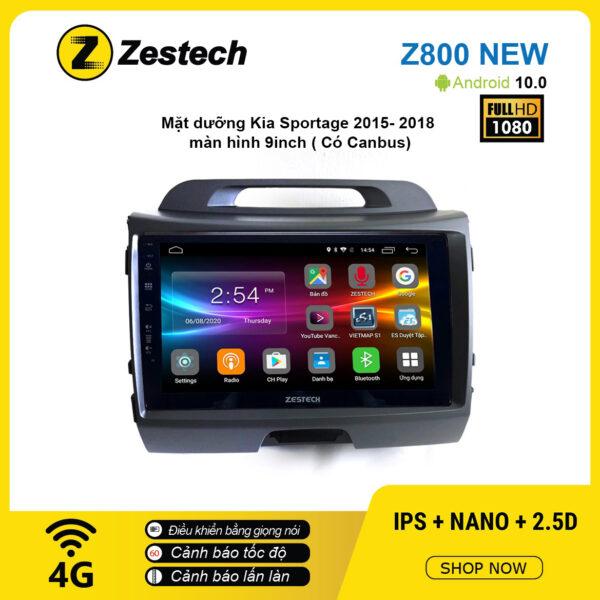 Màn hình ô tô DVD Android Z800 New – KIA Sportage 2015 – 2018 có Canbus
