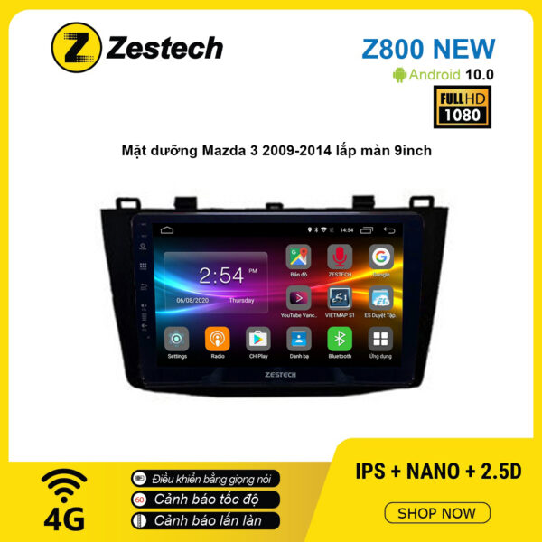 Màn hình ô tô DVD Android Z800 New – Mazda 3 2009 – 2014