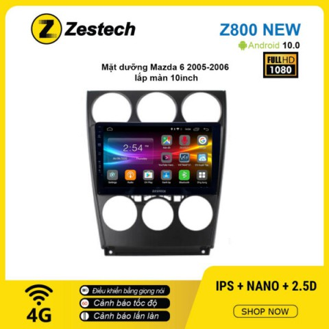 Màn hình ô tô DVD Android Z800 New – Mazda 6 2005 – 2006