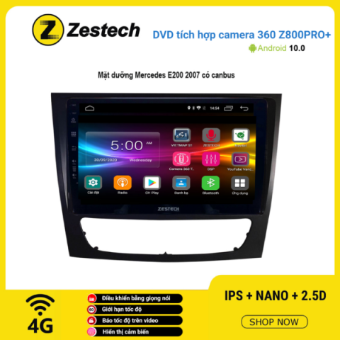 Màn hình DVD Zestech tích hợp Cam 360 Z800 Pro+ Mercedes E200 2007