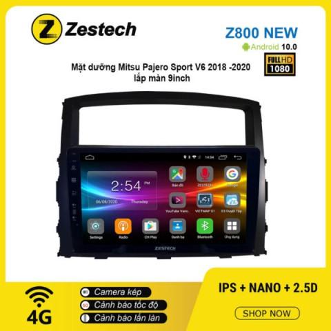Màn hình ô tô DVD Android Z800 New – Mitsu Pajero Sport V6 2018 -2020
